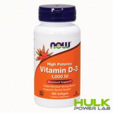 NOW Vitamin D-3 1,000 IU 180 Softgels
