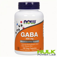 NOW GABA 500 mg 100 капсул