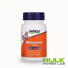 NOW Melatonin 3mg 60 капсул