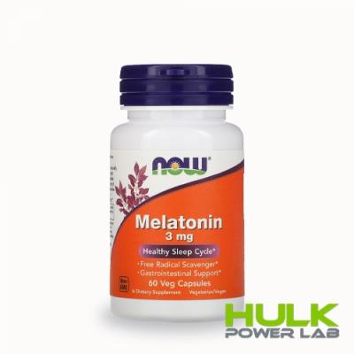 NOW Melatonin 3mg 60 капсул