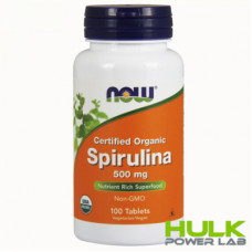 NOW Spirulina 500 мг 100 таблеток