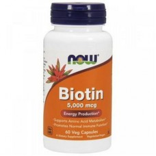 NOW Biotin 5000 mcg 60 капсул