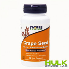 NOW Grape Seed 60 mg 90 капсул