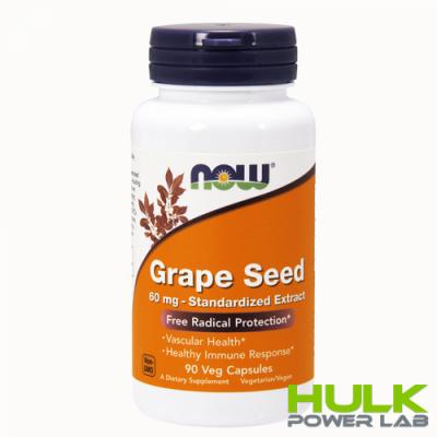 NOW Grape Seed 60 mg 90 капсул