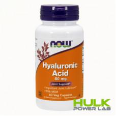 NOW Hyaluronic Acid 50mg 60caps