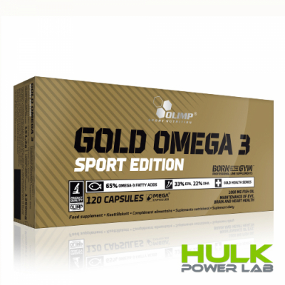 Olimp Gold Omega 3 sport edition 120 капсул