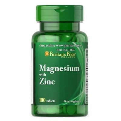 Puritan's Pride Magnesium with Zinc 100 таблеток