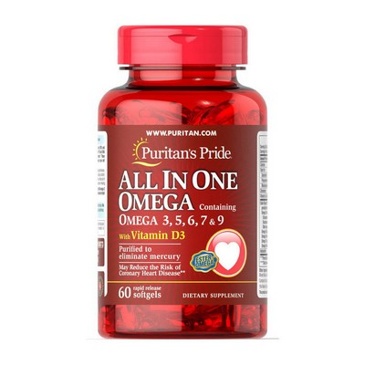Puritan's Pride  All In One Omega 3, 5, 6, 7, 9 with Vitamin D3