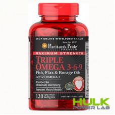 Puritan's Pride Triple Omega 3-6-9 Maximum Strength 120 caps
