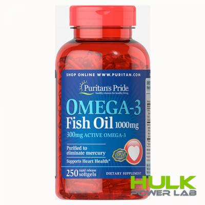 Puritan's Pride Omega-3 Fish Oil 1000 mg 250 капсул