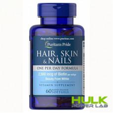 Puritan's Pride Hair, Skin & Nails Formula 30 caps