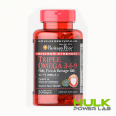Puritan's Pride Maximum Strength Triple Omega 3-6-9 60 капсул