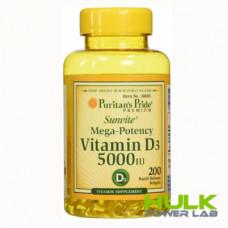 Puritan's Pride Vitamin D3 125 mcg 5000 iu 100 softgels