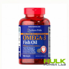 Puritans Pride Omega 3 950 mg active omega 3 90 капсул