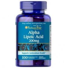 Puritan's Pride Alpha Lipoic Acid 200 мг 100 капсул