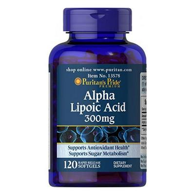 Puritan's Pride Alpha Lipoic Acid 300 мг 60 капсул
