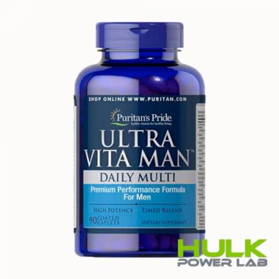Puritan's pride Ultra vita man daily multi 90 капсул